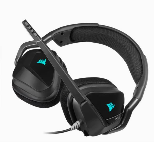 Corsair VOID RGB Elite Stereo Gaming Headset / USB / 7.1 Sound / Black