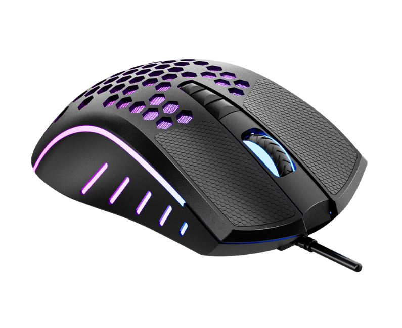 Meetion GM015 Mouse Gaming - RGB / 8 Buttons / Black
