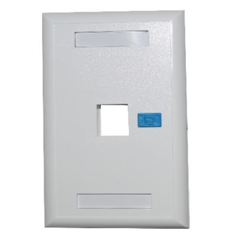 [NEW-NET-ACC-40000001-WH-320] Newlink Tapa de Pared (Faceplate) - Disponible en 1 y 2 puertos (1 Port)