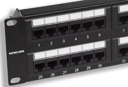 Newlink Panel de Conexión (Patch Panel) Cat 6A - Disponible en 24 y 48 puertos