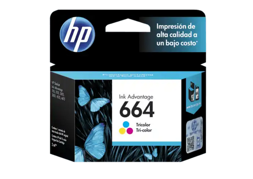 [HPE-PRT-INK/TON-F6V28ALL-TR-320] HP 664 TriColor Cartucho de Tinta