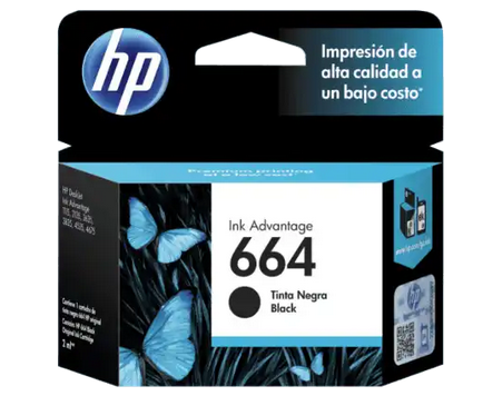 [HPE-PRT-INK/TON-F6V29ALL-BK-320] HP 664 Negra Cartucho de Tinta