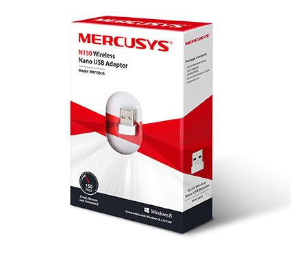 [MRS-NET-USB-MW150US-WH-320] Mercusys MW150US N150 Adaptador USB Nano Inalámbrico / 150Mbps / Blanco